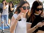 Kendall & Kylie Jenner bare their midriffs to visit their friend battling cancer at Saint John's Health Center
