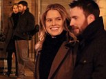 Real life lovers: Alice Eve and Chris Evans have sparked rumors they are involved in an off-screen romance