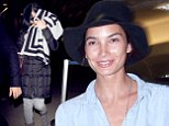 Home for the holidays! Lily Aldridge slips into leather trousers to travel in style while Katy Perry tries to go unnoticed as the stars jet off for Christmas