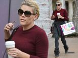 Festive: Busy Philipps indulges in Christmas shopping
