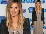 Daring for Disney: Ashley Tisdale exposed her black bra in a lacy maxi dress as she arrived at the screening of Cloud 9 in Burbank, California on Wednesday
