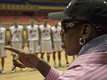 Rodman spent his first day in the secretive state watching a few dozen local players show off their skills