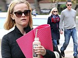 It really works! Reese Witherspoon seems in a great mood on stroll with her husband following a relaxing yoga class
