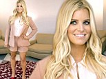 Finally back in her shorts! Jessica Simpson reveals her slim pins in a chic two-piece suit for Weight Watchers promo almost six months after giving birth to Ace Knute