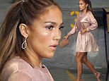 How old is she, again? Jennifer Lopez, 44, shows up for American Idol taping in flirty pink skirt befitting a teenager... but those pins do amaze