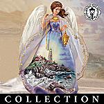 Thomas Kinkade Safe Harbor Angel Figurine Collection - Thomas Kinkade Lighthouse Art Collectible Angel Figurine Collection Glistens with Eternal Beauty! Exclusive!
