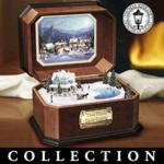 Thomas Kinkade Cherished Christmas Music Box Collection - Thomas Kinkade Presents a Musical Scene of Holiday Perfection