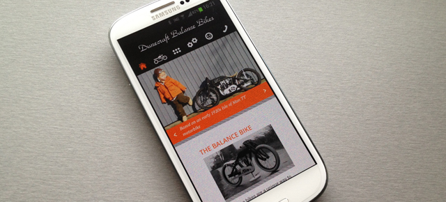 Responsive webdesign Dunecraft Balance Bikes