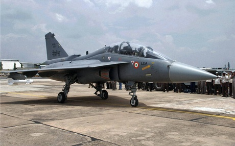 The indigenously built Light Combat Aircraft Tejas LCA Navy NP1 made its maiden flight in Bengaluru. (PTI Photo)