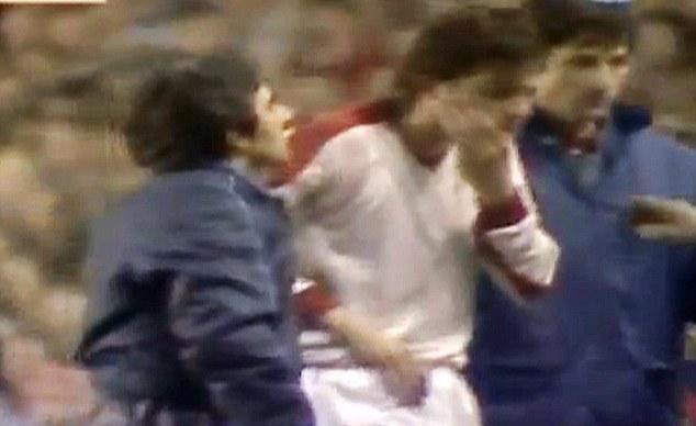Sore jaw: Lica Movila was a Graeme Souness victim in the 1984 European Cup semi-final