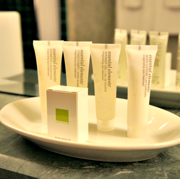 hotel de anza toiletries