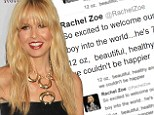 'We couldn't be happier!': Christmas comes early for Rachel Zoe and husband Roger Berman as couple welcome a baby boy