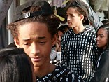 Moving on: Jaden Smith stepped out on Saturday with a female companion in West Hollywood, California as they grabbed lunch together