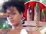 She nailed it! Rihanna shows off her festive talons as her Barbados Christmas beach odyssey continues