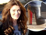 Watch your step! Lisa Vanderpump wears sky high studded boots while shopping in Beverly Hills with husband Ken Todd