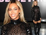 Sensory overload! Beyonce dazzles in risque see-through dress and thigh-skimming boots at party to celebrate smash album