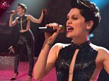 Do It Like a Rocker: Jessie J shows off a lot of skin at the recording of Top Of The Pops' Christmas special