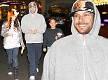 Proud papa: Kevin Federline was seen leaving the movie theatre in Calabasas, California on Saturday night with his two eldest children, Kori and Kaleb, in tow