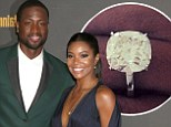 'So this happened!' Gabrielle Union shows off her huge diamond sparkler after accepting Dwyane Wade's marriage proposal