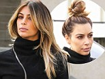 An early Christmas present for Kanye! Kim Kardashian's hair goes from drab to fab after visit to posh salon