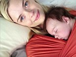 Just the two of us! Jaime King shares tender moment with her newborn James as she swaddles him on her chest for afternoon nap
