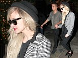 Glamorous couple: Ashlee Simpson and her 25-year-old actor boyfriend, Evan Ross, were seen leaving Ago Restaurant in West Hollywood together on Saturday night