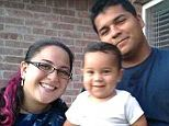 Happier times: Erick Munoz (right, holding their 1-year-old son Mateo) says his wife Marlise (left) did not want to ever be kept alive with a machine. But because she is pregnant, Texas law requires she receive all life saving measures