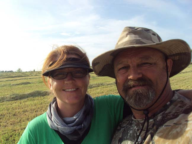 Nonie and Mike in the strewn field