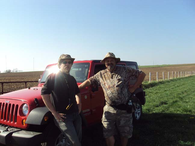 Eric and Mike looking for the strew field