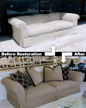 Couch Pillow Restuffing, Cushion Restuffing, Complete Reupholstery Irvine, Newport, Anaheim Hills, Beverly Hills, Hollywood Custom Upholstery