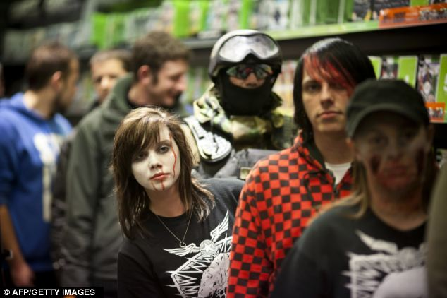 At the  Daventry Blockbuster store many fans dressed up for the launch
