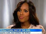 Kerry Washington 'shares something special' on Good Morning America... but doesn't address baby rumours after teaser trailer ignited fresh speculation