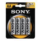 "Купить Батарейки AA SONY ""SUM3-NUB4A ULTRA Heavy Duty "" 1.5В  (4шт/уп)"