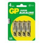 "Купить Батарейки AA GP ""15A-CR4 SUPER""  (4шт/уп) (цена за 4шт)"