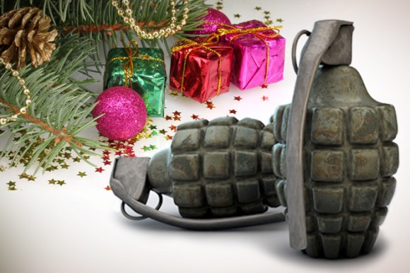 War On Christmas Grenades