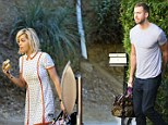 Nice living: Rita and Calvin have been staying in his Beverly Hills mansion