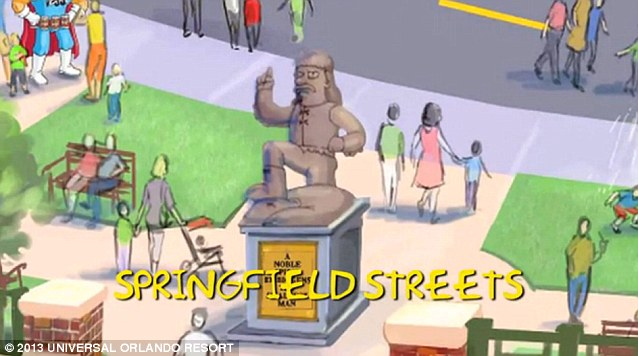 Seeing yellow: Visitors will be able to walk down a specially recreated Springfield Street