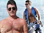Woowee! Simon Cowell was seen getting his adrenaline flowing on a jet ski in Barbados on Saturday, while his pregnant girlfriend was no where in sight