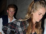 Couple: Prince Harry and his girlfriend Cressida Bonas will celebrate new year together after spending Christmas apart while he was at Sandringham with his family