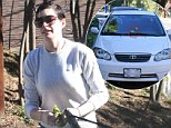 Grumpy: Anne Hathaway  is believed to have left a bag of dog poo on a photographer¿s car as a ¿present¿