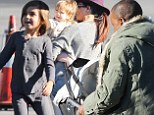 Baby, this is how we roll! Kim Kardashian and Kanye West's daughter North West, six months, is joined by her tiny cousins Mason and Penelope on a private jet to Aspen