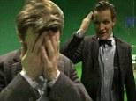 Tears, hugs and sonic screwdrivers: Former Doctor Who star Matt Smith cries as Executive Producer Steven Moffat gives 'heart-broken' leaving speech