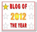 Blog of the Year 2012 Award