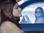 Not so easy now is it? Modern Family's Ariel Winter gets behind the wheel to practice her driving skills (and parks in a handicap spot)