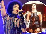 Striking resemblance: Tim Curry as Dr. Frank N. Furter in the 1975 movie The Rocky Horror Picture Show and Prince, shown in concert on Sunday in Connecticut, looked like they had the same stylist