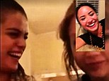 High tech sleepover! Selena Gomez and Taylor Swift share a tea over Facetime with Demi Lovato