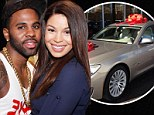 She must have been very nice! Jason Derulo gives girlfriend Jordin Sparks a BMW for Christmas