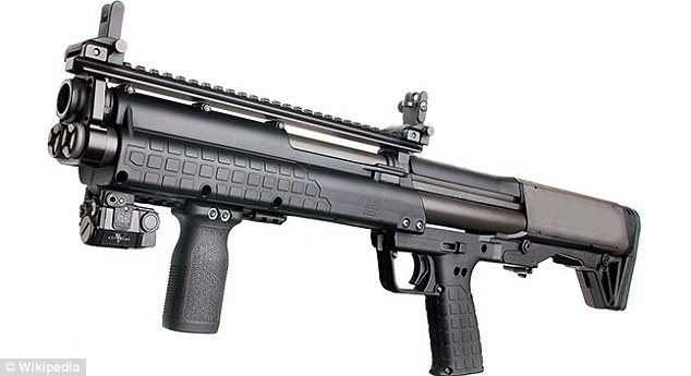 In the interview, Scheibe said Zimmerman pointed his Kel-Tec shotgun (pictured) at her. She wasn't sure whether it was loaded or not