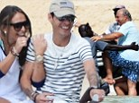 It's clear Marc Anthony feels very much at home with girlfriend Chloe Green's father Phillip.