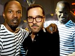 Dynamic duo: Jamie Foxx and Jeremy Piven were seen out partying together at LIV at the Fontainebleau Hotel in Miami Beach